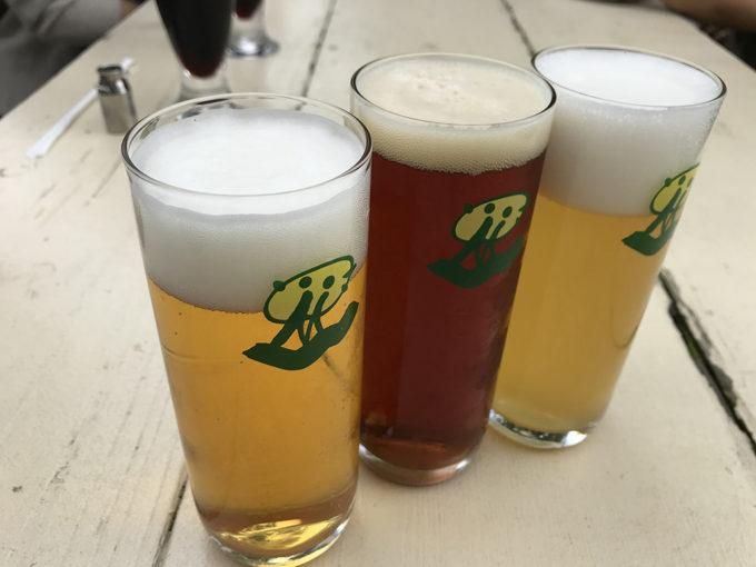 クラフトビール三種(ピルスナー/レッドエール/ヴァイツェン)